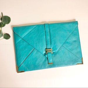 ASOS Teal Envelope Clutch